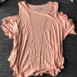 Light pink free people t shirt